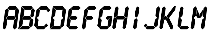 LCDMono Ultra Font UPPERCASE