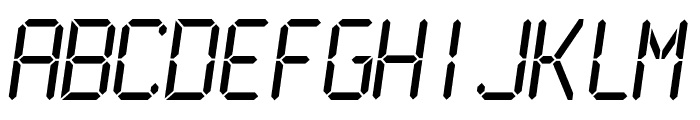 LCDMono2 Normal Font LOWERCASE