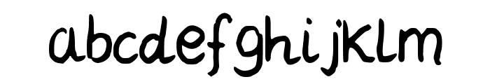 LCDaisy Font LOWERCASE