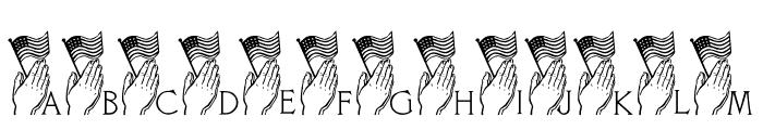 LCR America Prays LSF Font UPPERCASE