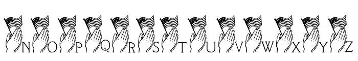 LCR America Prays LSF Font LOWERCASE