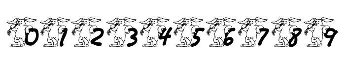 LCR Bunny Brunch Font OTHER CHARS