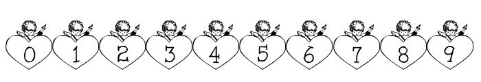 LCR Cupid's Heart Font OTHER CHARS