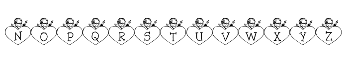 LCR Cupid's Heart Font LOWERCASE