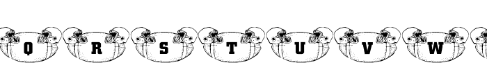 LCR Football Fanatic Font UPPERCASE