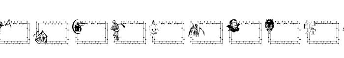 LCR Frightful Frames  Font UPPERCASE