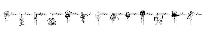 LCR Frightful Frames  Font LOWERCASE