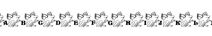 LCR Frogii's Angel Font UPPERCASE