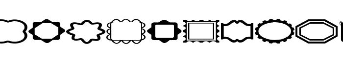LCR FunFrames Font UPPERCASE