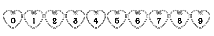 LCR Heartful Rose Font OTHER CHARS