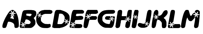 LCR Itz Snowflakes Font LOWERCASE