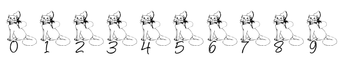 LCR Kat's Cattitude Font OTHER CHARS