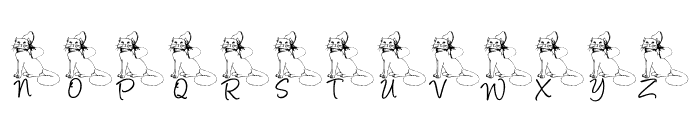 LCR Kat's Cattitude Font LOWERCASE