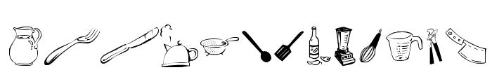 LCR Kitchen Dings Font UPPERCASE