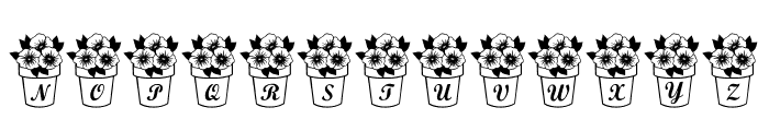 LCR Pansy Peepers Font LOWERCASE