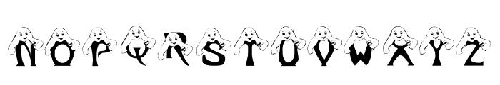 LCR Peek A Boo Font UPPERCASE