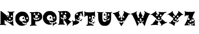 LCR Pumpkin Face Font UPPERCASE