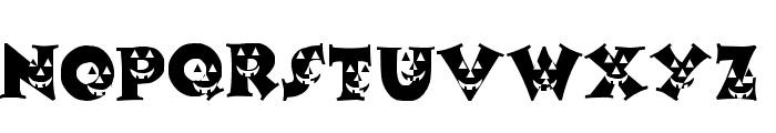 LCR Pumpkin Face Font LOWERCASE