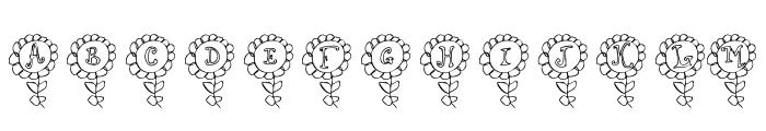 LCR Shelbys Flower Font UPPERCASE