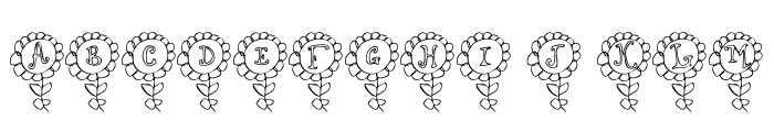LCR Shelbys Flower Font LOWERCASE