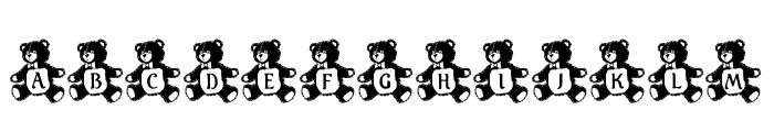 LCR Teddy Tyme Font UPPERCASE