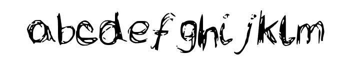 LCScribbles Font LOWERCASE