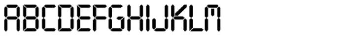 LCD SH Regular Font LOWERCASE
