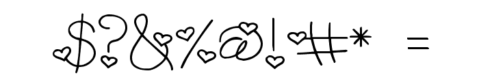 LD Heart Throb Font OTHER CHARS