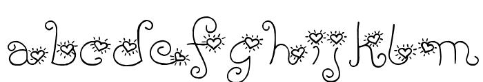 LD Heart Throb Font LOWERCASE