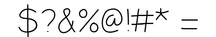 LDFComicSansHairline Font OTHER CHARS