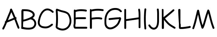 LDFComicSansLight Font UPPERCASE