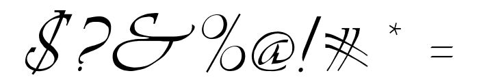 LDS Script Italic Font OTHER CHARS