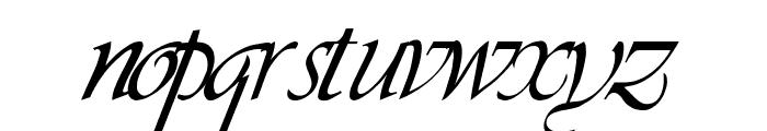 LDS Script Italic Font LOWERCASE