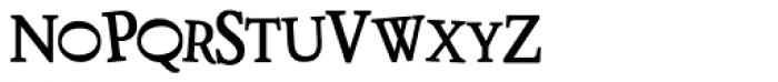 LD Distorted Drusillus Font UPPERCASE