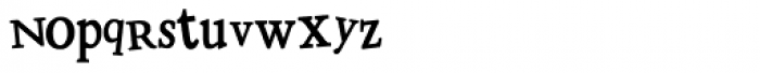 LD Distorted Drusillus Font LOWERCASE