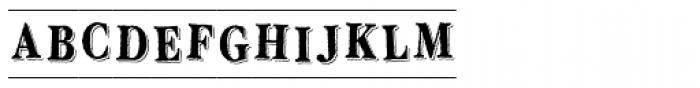 LD Engraved Font UPPERCASE