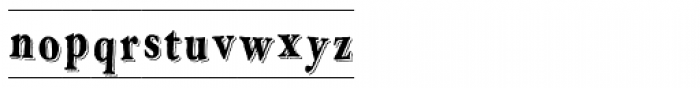 LD Engraved Font LOWERCASE