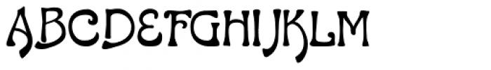 LD Gypsy Font UPPERCASE