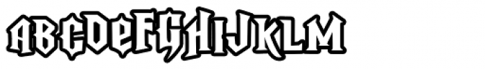 LD Rock Hero Font LOWERCASE