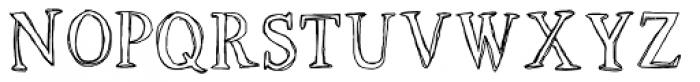 LD Roman Sketch Font UPPERCASE