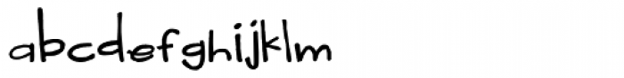 LD Teensel Font LOWERCASE