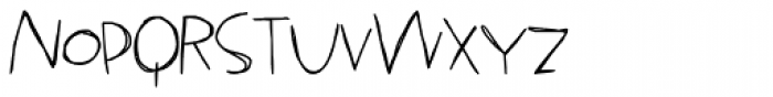 LDJ Jillegible Font LOWERCASE