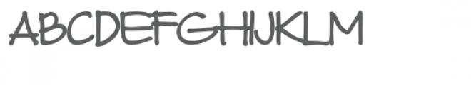 ld christine's hand bold Font UPPERCASE