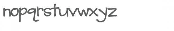 ld christine's hand bold Font LOWERCASE