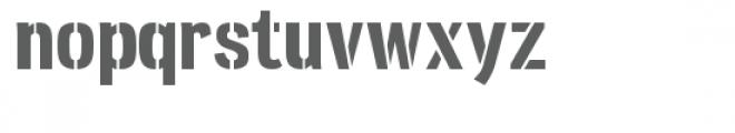 ld stensa Font LOWERCASE