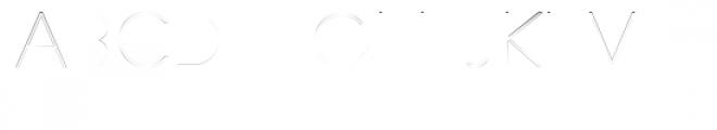 ld trainer vertical outline Font UPPERCASE