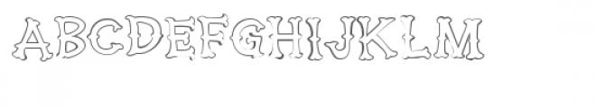 ldj huckleberry stroked Font UPPERCASE