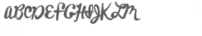 ldj jasper hand Font UPPERCASE