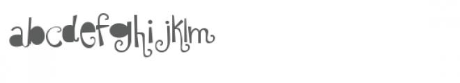 ldj shortbread solid Font LOWERCASE