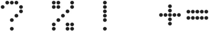 LED Dot-Matrix Regular otf (400) Font OTHER CHARS